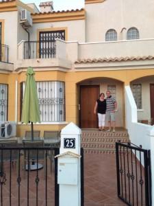 David and Amanda at their home