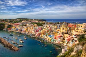 From the Island of Procida, Bay of Naples, Italy