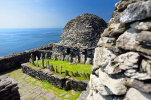 Skellig Michael or Great Skellig, home to the ruined remains of a Christian monastery, Country Kerry, Ireland